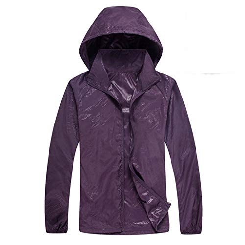 Men's Women Long-Sleeved Hooded Jersey Casual Jackets Windproof Ultra-Light Rainproof Windbreaker Sun Protection Top