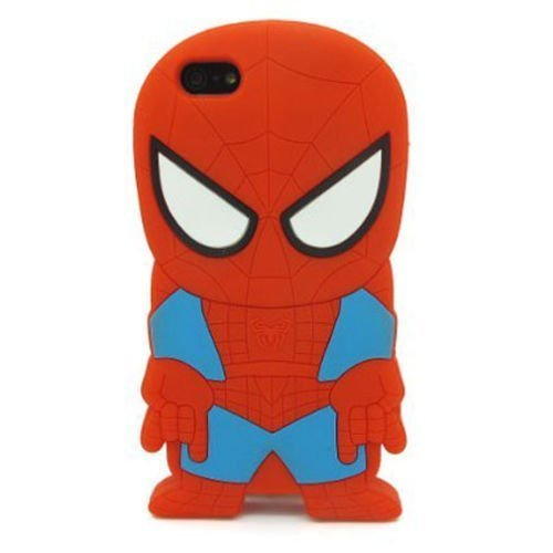 iPhone 6 Case, Maxbomi - 3D Cute Cartoon Marvel Yankees Justice Team New York Super Hero Gangs Spider Amazing Man Silicone Rubber Case for iPhone 6 4.7 inch