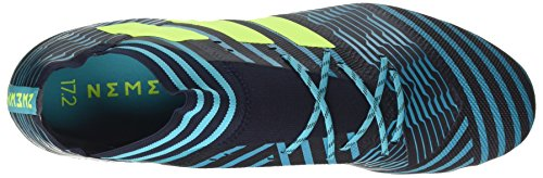 adidas Herren Nemeziz 17.2 FG Fußballschuhe, Orange/Schwarz, 42,5 EU Mehrfarbig (Legend Ink /solar Yellow/energy Blue )