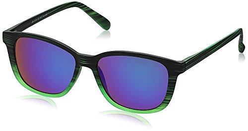 Joe Black Wayfarer Sunglasses (Green Printed) (JB-1014|C2)