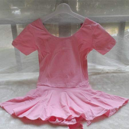LoLa Ling Cotton Ballet Leotards Short Sleeve ren Ballet Tutu Girls Round-Neck Tutu Dress Dance Ballet Dance Dress