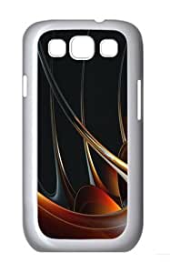 3D Abstract Designs Custom Hard Back Case Samsung Galaxy S3 SIII I9300 Case Cover - Polycarbonate - White