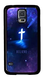 Rugged Samsung Galaxy S5 Case and Cover - Religious Christian Custom Design PC Case Cover for Samsung Galaxy S5 - BlackKimberly Kurzendoerfer