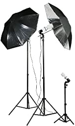 Fancier Chromakey Green Screen Kit 1000 Watt Video Lighting Kit Photo Studio Kit Umbrella Softbox Kit