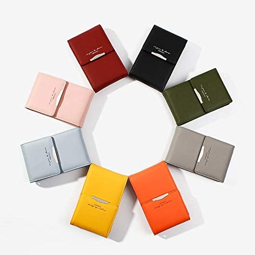 Fashion Hasp Womens Wallet Women Simple Pu Wallets Solid Color Lady Card Holders Casual Square Teen Girls Small Bag Color: Blue Gimax Coin Purses
