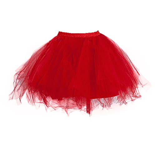 (Bettli Girls's Short Vintage Short Tulle Petticoat Skirts Tutu Ballet Bubble Tutu Underskirt)