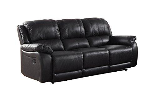 Milton Greens Stars Rena Top Grain Leather Reclining Sofa, black