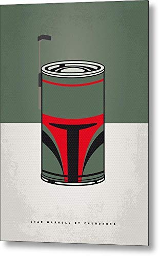 Fieanxi My Star Warhols Boba Fett Minimal Can Poster Retro Vintage Decor Metal Tin Sign 8x12 Inches