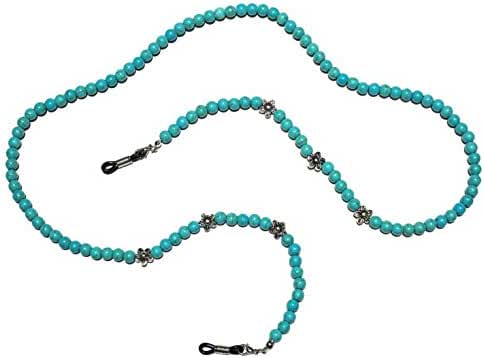 Premium Handmade Turquoise Colored Beaded Eyeglass Holder, Eyeglass Chain, Eyeglass Lanyard