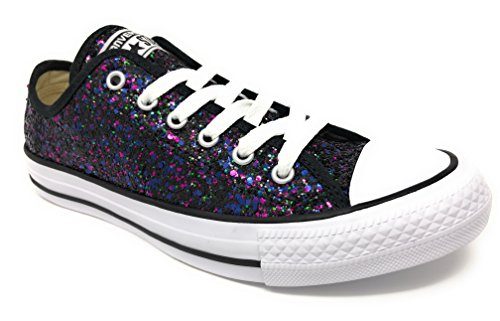 Converse Chuck Taylor All Star Lo (Womens 6, Glitter Black 9532)