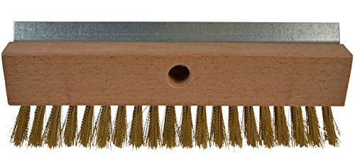 "Bristles 4004 Industrial Strength Pizza Oven Stone Brush Scraper and Cleaner 10"", Brown (Oven Pizza Brush)"
