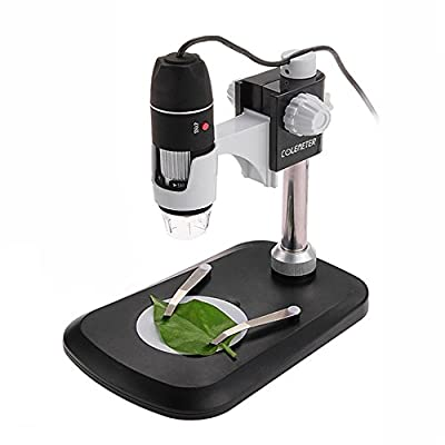 COLEMETER USB 2.0 Handheld Digital Microscope 2MP 500X 8-LED Zoom USB Digital Magnifier Endoscope Video Camera with Stand for WIN XP / VISTA / WIN 7 32-bit and 64-bit etc