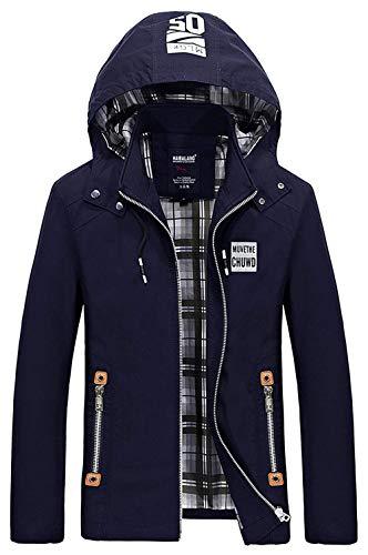 Cotton Jackets Jacket Hooded Away Mens Marineblau Ntel Apparel Outwear Hooded Men Take Autumn Leisure Men's 1nCwxqdpd