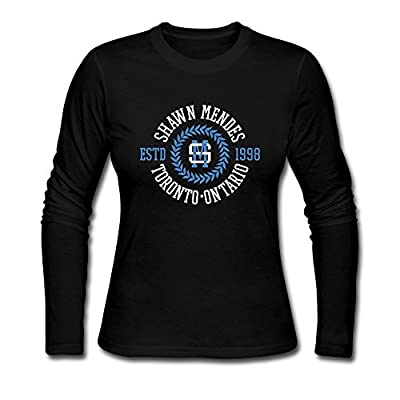 Long Sleeve-womens Shawn Mendes Singer Long Sleeve Tshirt Shirt.