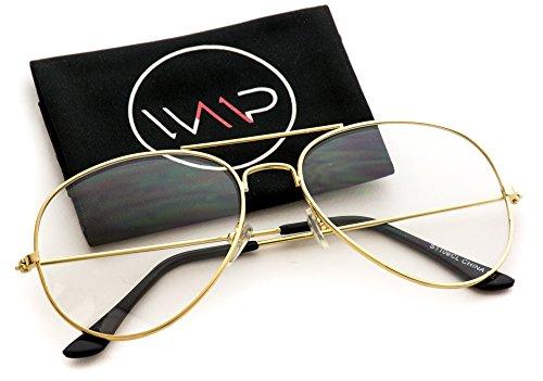 WearMe Pro - Vintage Metal Frame Aviator - Glasses Fake Vintage