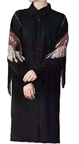 GLK Japanese Cool Style Eagle Wing Style Black Long Shirt for Women Maid Cosplay