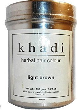 Khadi Natural Ayurvedic Herbal Hair Color Light Brown (150 g) by Khadi Natural (Image #1)