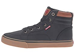 Levis Mens Ashbury Gum Sneaker (13) (Black/Gum)