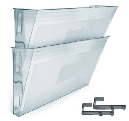 Acrimet Wall-mounted Modular File Holder (2 - Pack) (Crystal Color) - Modular Office Storage