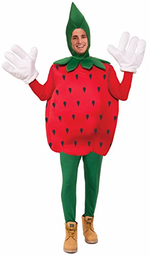 [Forum Novelties Strawberry Costume, Red, Standard] (Strawberry Halloween Costumes)