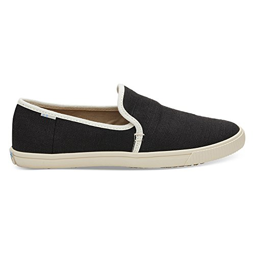 TOMS Women's Black Heritage Canvas Clemente Slips-On 10012385 (Size: 8)