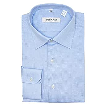 Balmain Blue Shirt Neck Shirts For Men