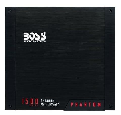 BOSS AUDIO PH1500M Phantom 1500-Watt Monoblock, Class A/B 2-8 Ohm Stable Monoblock Amplifier with Remote Subwoofer Level (Crossover 8 Ohm Speaker 2 Ohm)