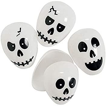 Amazon Com Skull Plastic Easter Halloween Eggs 24 Ct
