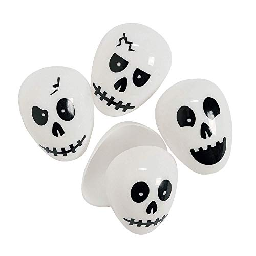 Skull Plastic (Easter) Halloween Eggs - 24 ct]()