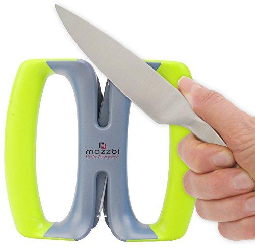 Manual 2 Stage Knife Sharpener - With Self Adjustable Cerami