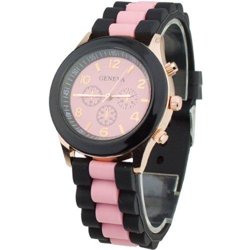 Women's Silicone Band Jelly Gel Quartz Wrist Watch Pink (1) - Pink Quartz Jelly