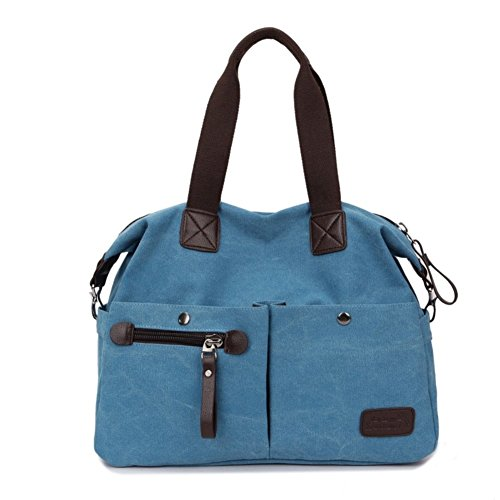 HNYEVE HB1200084C2 Fashion Canvas Korean Style Women's Handbag,Square Cross-Section Tote