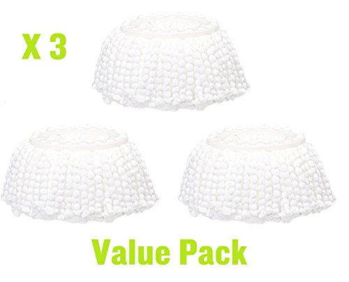 360° Spin Magic Mop Head Replacement Mop Head Microfibers Mop Head Refill For Hurricane Roating Mop System- Pack of 3