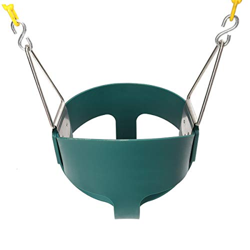 - Fully Assembled High Back Baby Swing Seat Full Bucket Toddler Playground Park Home Garden Cradle