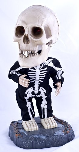 Gemmy Halloween Big Head Dancing Skeleton - Sings