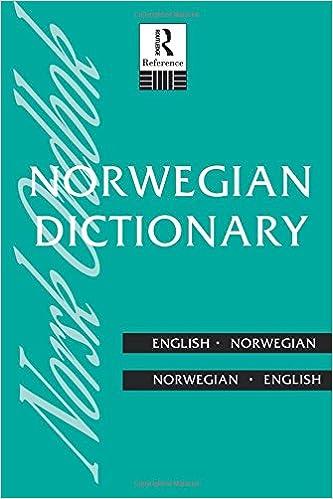 English-Norwegian Norwegian Dictionary Norwegian-English