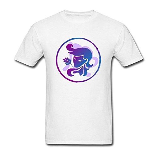 Vipxmax Cotton Zodiac Sign Virgo Art Short Sleeve Crewneck T-shirt Mens XS
