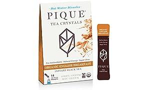Pique Organic English Breakfast Black Tea Crystals, Antioxidants, Energy, Gut Health, 14 Single Serve Sticks (Pack of 1)