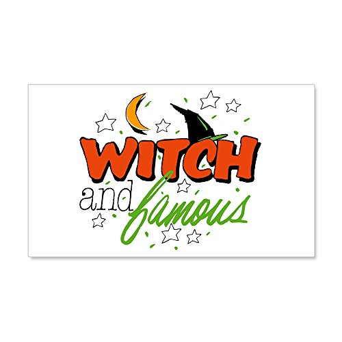 20 x 12 Wall Vinyl Sticker Halloween Witch and Famous Hat ()
