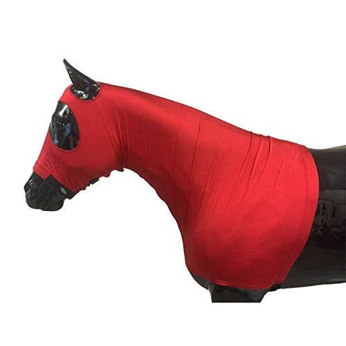 Red Large Red Large Sleazy Lycra Hood