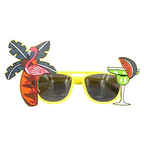 Tinksky Tropical Hawaiian Flamingo Eyeglasses Coconut Tree Juice Eye Glasses for Hawaii Luau Party Beach Gathering Beer - Eyeglasses Beer