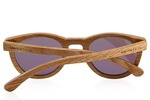 MERRYS Polarized Wooden Coated Floating Sunglasses Mens/Womens vintage Eyewear S5268 Purple