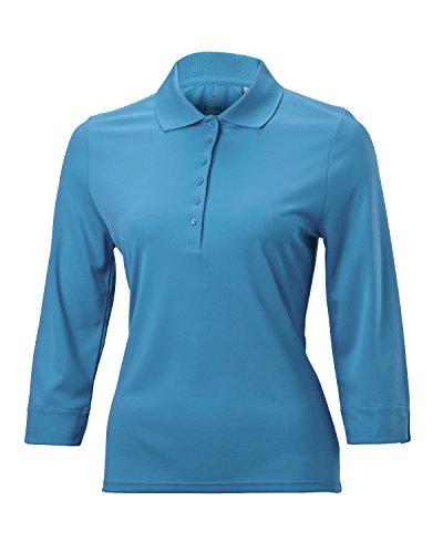 Women's Nancy Lopez Luster 3/4 Sleeve Golf Polo (1X, Breeze)