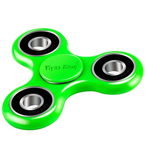 Tri Spinner,Viyaabang Hand Spinner ,Tri-Spinner Toys for Adult and Kids -Perfect for ADD,ADHD,and - Green Spinner