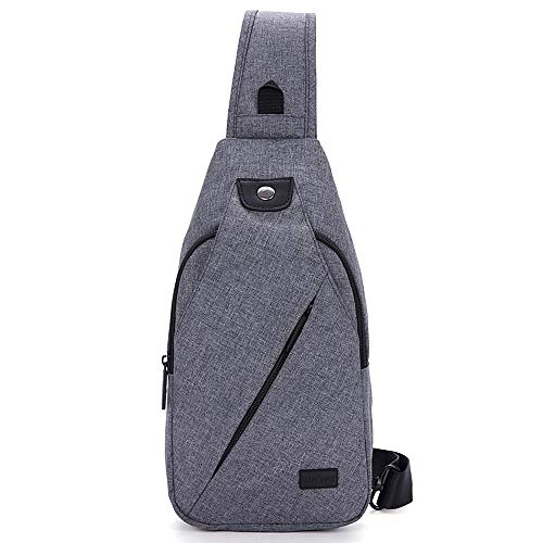 Hikpacker Lightweight Sling Shoulder Crossbody Bag Travel Hiking backpack Daypack For Men Or Women(Gray)