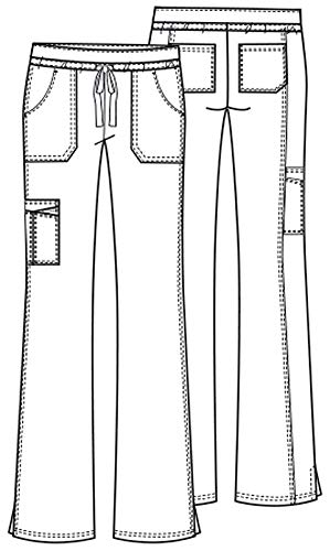 Cherokee Core Stretch Workwear Women's Flare Leg Scrub Pant X-Small Petite Fruit Punch