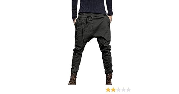 Invierno Pantalones Largo Hombre Pantalón Deportivo Suelto Casuales Jogger Hip Hop Estilo Urbano Chándal de Hombres con Cinturón Elástico Regular-Fit
