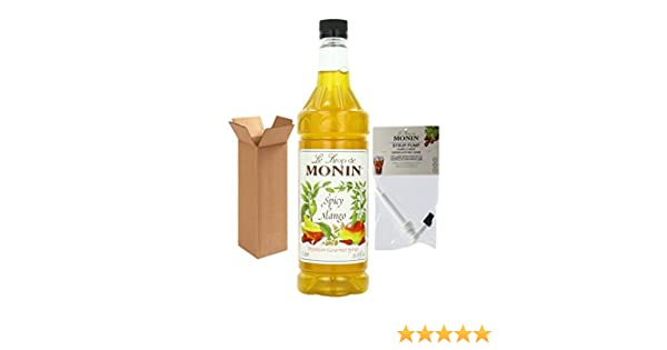 Amazon.com : Monin Spicy Mango Syrup, 33.8-Ounce Plastic Bottle (1 Liter) with Monin BPA Free Pump, Boxed. : Grocery & Gourmet Food