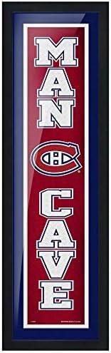 Montreal Canadiens 6x22 Team Man Cave Framed Artwork