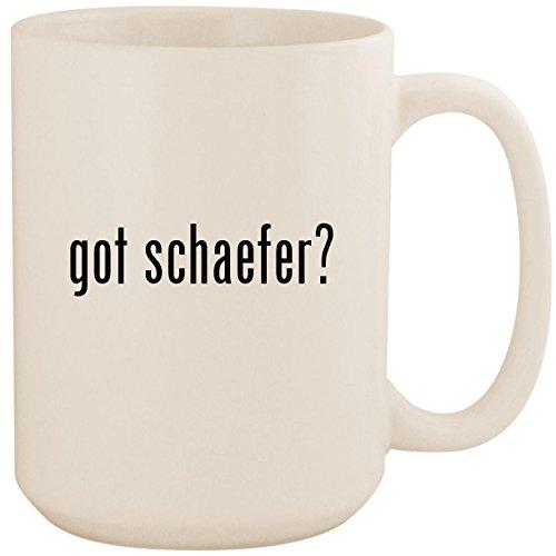 got schaefer? - White 15oz Ceramic Coffee Mug Cup